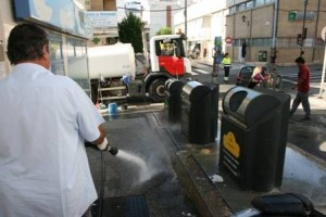 Limpieza camion ayto